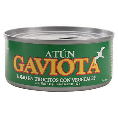 Atun Gaviota lomo trocitos con vegetales 100 g