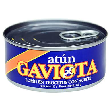 Atun Gaviota lomo trocitos en aceite 100 g