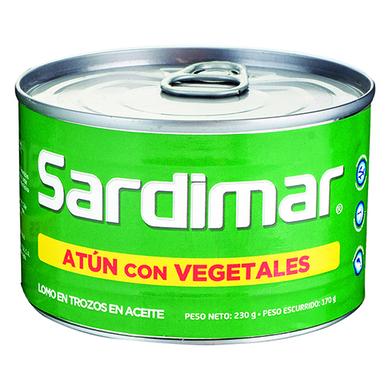 ATUN SARDIMAR VEGETALES EN ACEITE 170GR