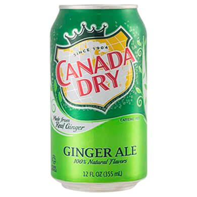 Resfresco gaseoso Canada Dry ginger ale lata 355 ml