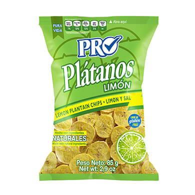 BOQUITAS PRO PLATANO LIMON Y SAL 85GR