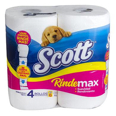 Papel higienico Scott rindemax eco 4 unidades