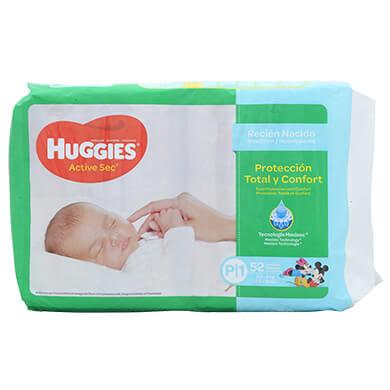Panal Huggies active sec mega pequeno 52 unidades