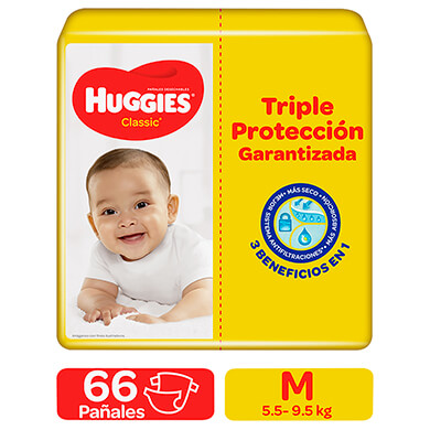 PANAL HUGGIES CLASICO SUP MEGA TM 66U