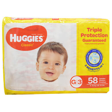 PANAL HUGGIES CLASICO SUP MEGA TG 58U