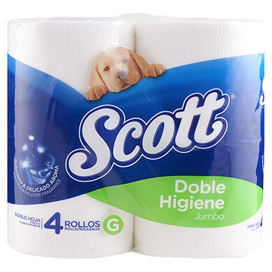 Papel higienico Scott jumbo 4 unidades