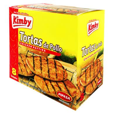 TORTA KIMBY CONGELADO POLLO 8U 640GR