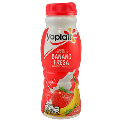 YOGURT YOPLAIT BANANO FRESA 235GR