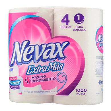 Papel higienico Nevax extramas 4 unidades