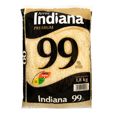 ARROZ INDIANA GRANO ENTER 99 1800 GR