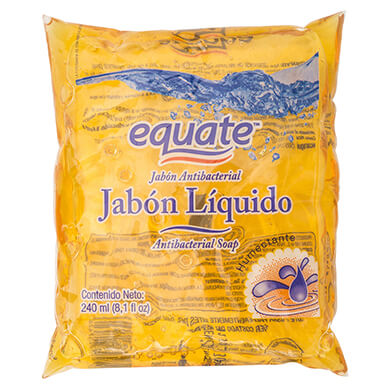 JABON LIQ EQUATE ANTIBACT BURBUJ 240ML