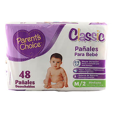 Panal Parents Choice mega M 48 unidades