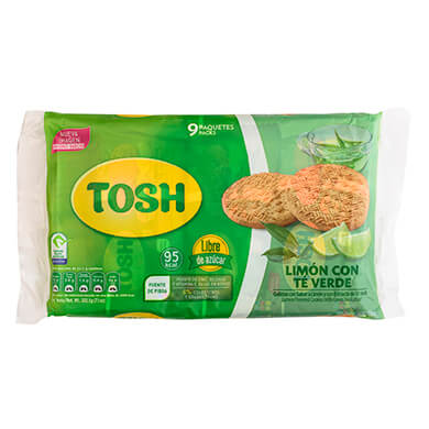 Galleta Pozuelo Tosh limon  202.5 g