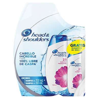 Shampoo Head and Shoulders suave manejable pack 880 ml