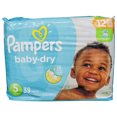 PANAL PAMPERS BABY DRY T5  39 UND