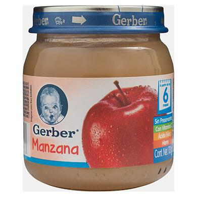 Colado Gerber de manzana paso 2 113 g