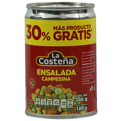 Ensalada La Costena campesina 169 g