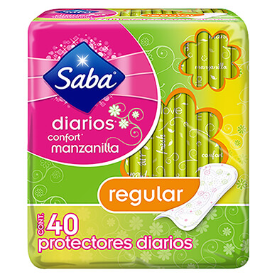 Protector diario Saba manzanilla confort 40 unidades