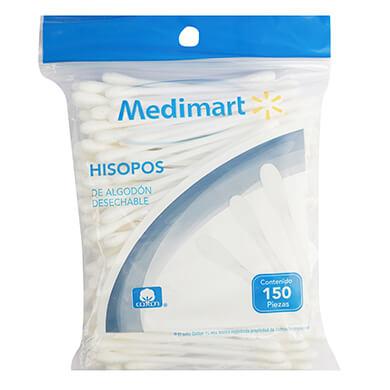 HISOPOS MEDIMART BOLSA 150 PZS