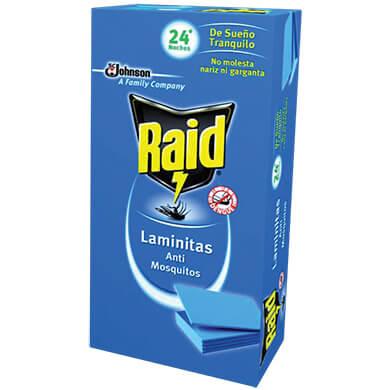 REPELENTE LAMINITAS RAID ELECT 24 UNIDADES