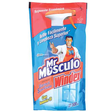 Mr musculo windex vidrio doypack 500 ml