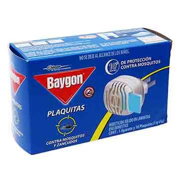 APARATO BAYGON ELECTRICO MAS 10 PLAQUITS