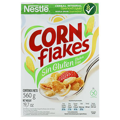 CEREAL CORN FLAKES SIN GLUTEN 560GR
