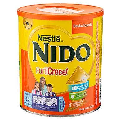 Leche en polvo Nido deslactosada 800 g