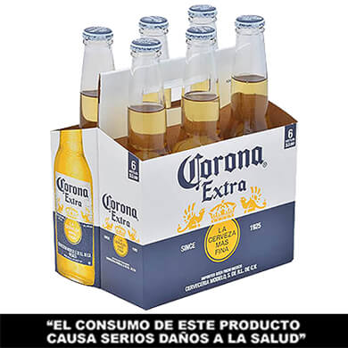 Cerveza Corona botella 6 pack 355 ml