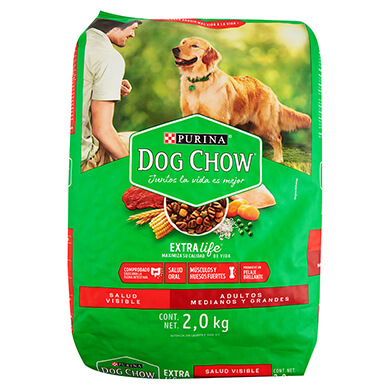 ALIMENTO DOG CHOW PERRO ADULTO 2000GR