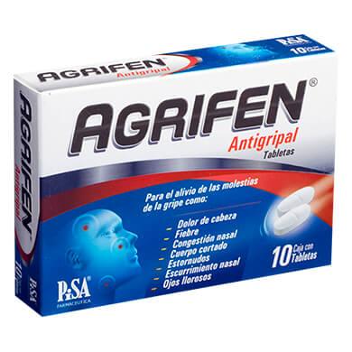 Agrifen antigripal caja 10 tabletas