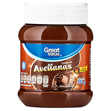 CREMA GREAT VALUE DE AVELLANAS 350GR