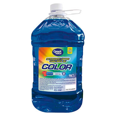DETERGENTE LIQ GREAT VALUE COLOR 5000ML