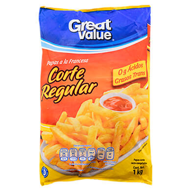 PAPAS FRITAS GREAT VALUE 1000 GR