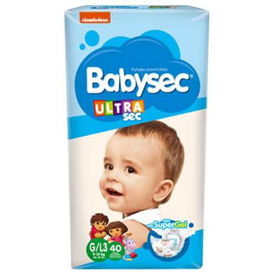 PANAL BABYSEC ULTRA TALLA G 40 UND
