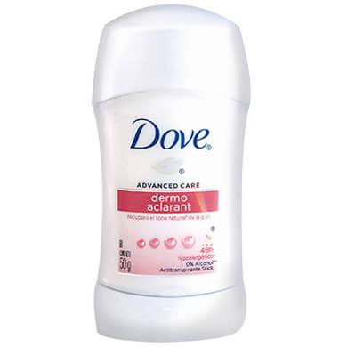 Desodorante Dove barra dama dermo aclarant 50 g