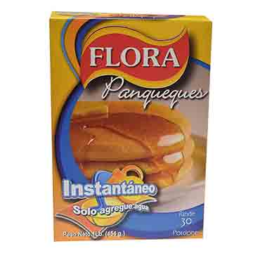 HARINA PANCAKE FLORA NATURAL INST 454GR