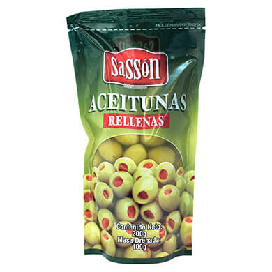 ACEITUNAS SASSON RELLENAS 100GR