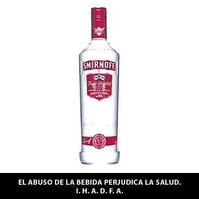 VODKA SMIRNORFF PREMIUM ROJO NO21 750ML