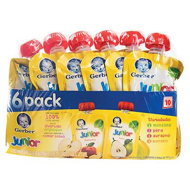 Colados Gerber jr surtido 6 pack 110 g