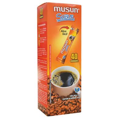 CAFE MUSUN SUAVE 40SOBRES 72GR