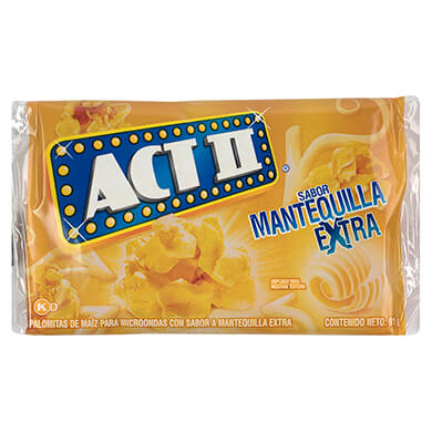 PALOMITAS ACT II MANTEQUILLA EXTRA 91 GR
