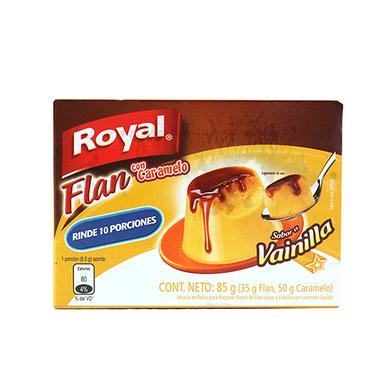 FLAN ROYAL VAINILLA CON CARAMELO 85GR