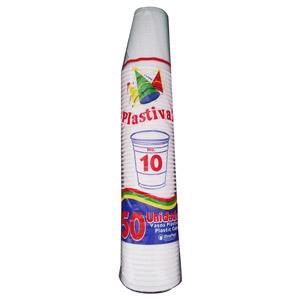 VASOS PLASTIVAL DESECHABLE N10 50 UND