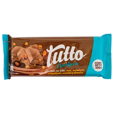 CHOCO TUTTO CHOCOLOVERS BARRA 200GR
