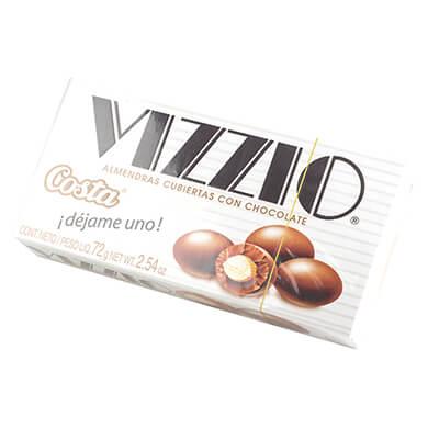 Chocolate Costa Vizzio con almendras 72 g