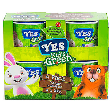 YES YOGURT KIDS SURTIDO 4PCK 100GR