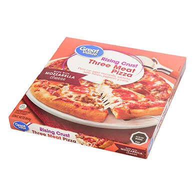 Pizza Great Value de 3 carnes 864 g