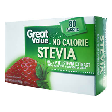 Endulzante Great Value Stevia 80 sobres 160 g