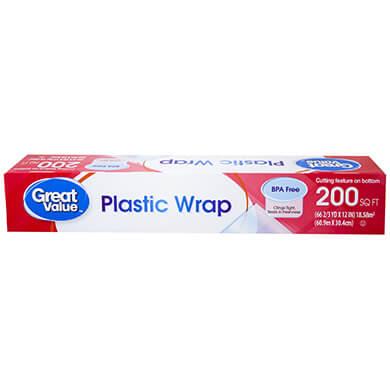 Rollo plastico Great Value para alimentos 200 pies